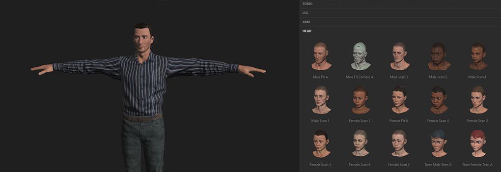 Erstellen von Avatar-Körper- und Gesichtsanimationen für VR